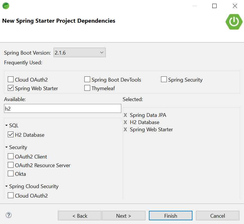 Spring boot rest example dependencies