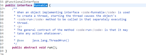 Runnable Functional Interface